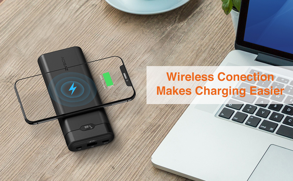 Best for wireless charging power bank: AideaZ 20,000mAh portable battery charger