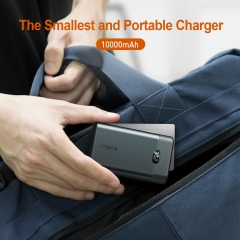 AIDEAZ Wireless Power Bank Portable Charger 10000mAh, LCD Display, Ultra-Compact, High-SpeedCharge 18W Power Delivery