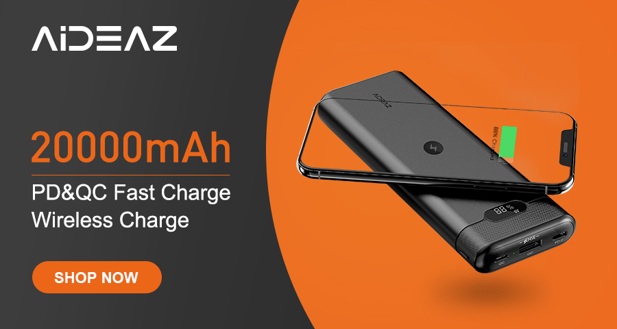 Portable Charger 20000mah with PD&QC3.0 Fast Charge